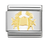 Nomination Gold Zodiac Cancer Charm