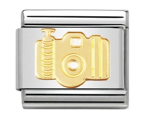 Nomination Gold Camera Charm