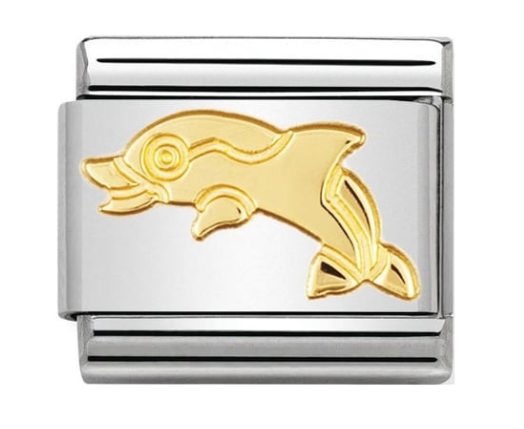 Nomination Gold Dolphin Charm