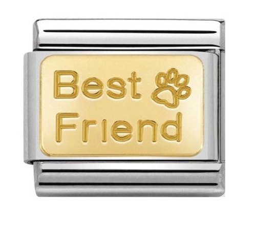Nomination Gold best friend paw print classic charm