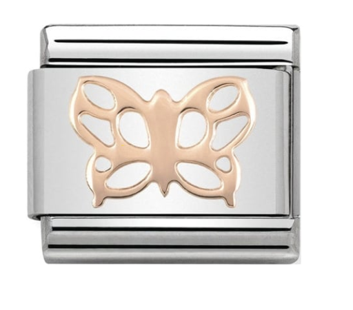 Nomination Rose Gold Butterfly Charm