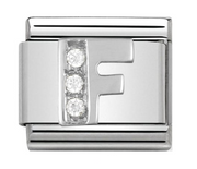 Nomination Silver CZ Letter F Charm