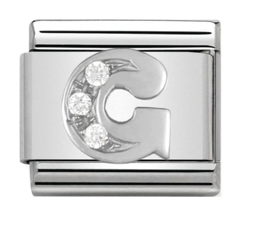 Nomination Silver CZ Letter G Charm