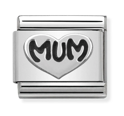 Nomination Silver Mum Heart Charm
