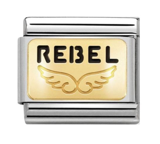 Nomination Gold Rebel Wings Charm