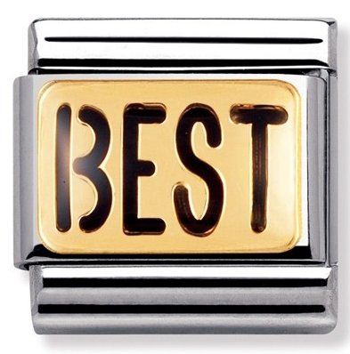 Nomination Gold & Black BEST Charm