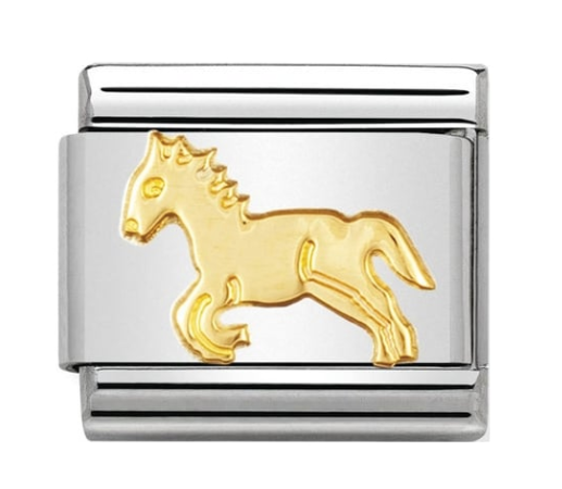Nomination Gold Horse Charm