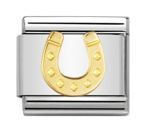 Nomination Gold Danish Horseshoe Charm
