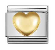Nomination Gold Raised Heart Charm