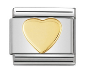 Nomination Gold Flat Heart Charm