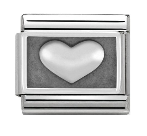 Nomination Silver Oxidised Heart Charm