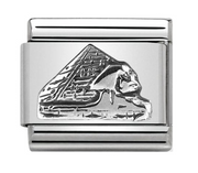 Nomination Silver Egypt Pyramid Charm
