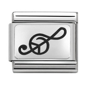 Nomination Silver Treble Clef Music Charm