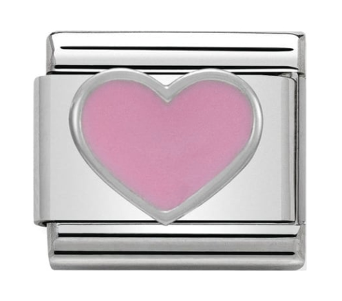 Nomination Silver Pink Heart Charm