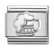 Nomination Silver Beer Charm