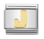 Nomination Gold Initial Letter J Charm