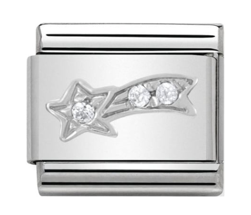 Nomination Silver CZ Shooting Star Charm