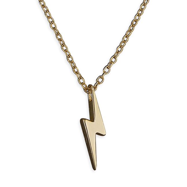 Yellow Gold Lightning Bolt Pendant