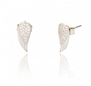 ANGEL WING STUD EARRINGS - SILVER