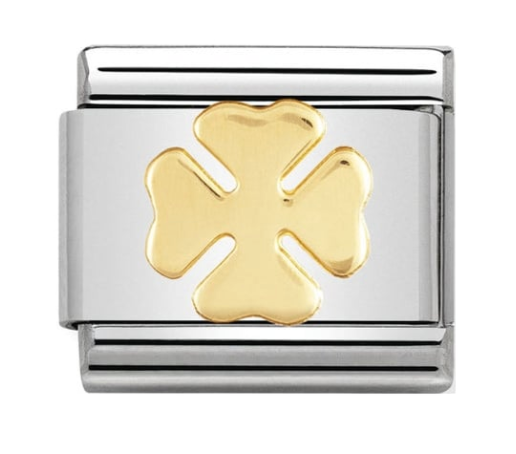Nomination Gold Good Luck Clover Charm