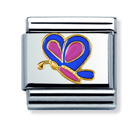 Nomination Gold Purple Butterfly Charm