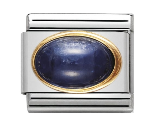 Nomination Gold Oval Blue Sapphire Charm