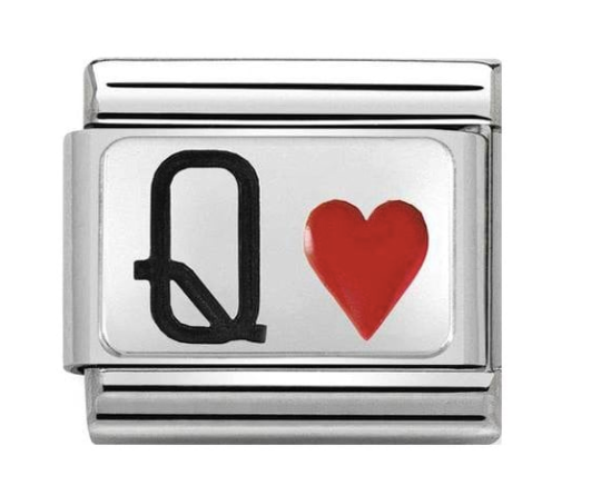 Nomination Silver Queen of Hearts Charm