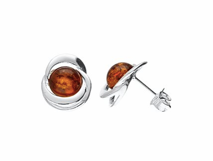 Amber Knot Stud Earrings