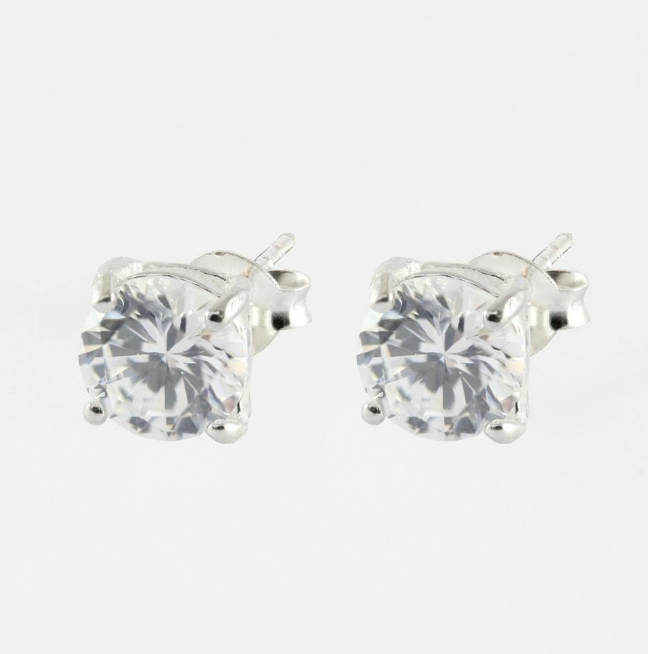 4mm Square CZ Stud Earrings