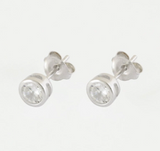 5mm Round CZ Stud Earrings