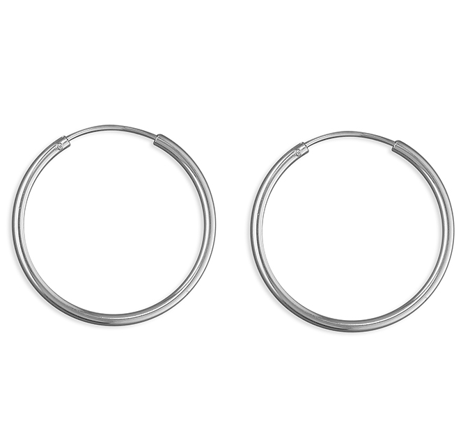 25mm Silver Hoop Earrings