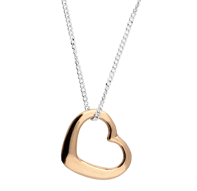 rose gold open tiffany heart necklace