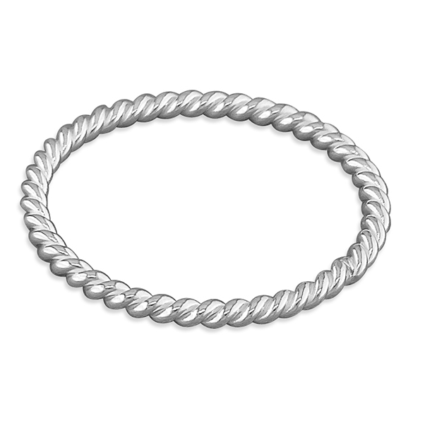 twisted silver stacking ring