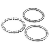 set of 3 silver stacking rings