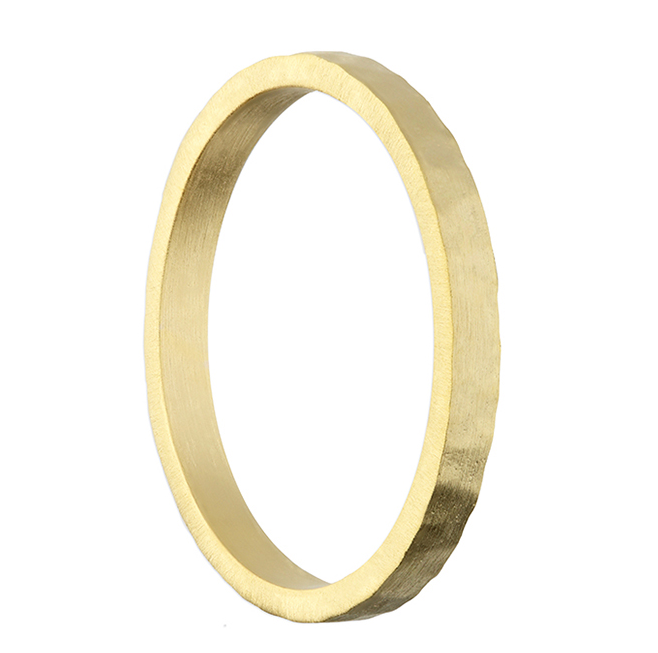hammered and matt gold ring
