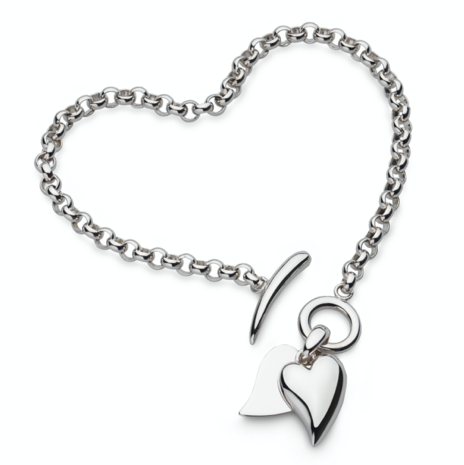 Kit Heath Desire Love Duet Heart t-bar engravable bracelet