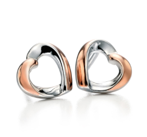 Fiorelli Sterling Silver And Rose Gold Earrings E4861