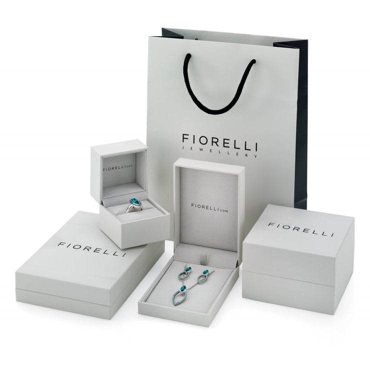 Fiorelli Emerald Green Rose Cut Drop Earrings