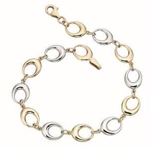 GB403 white and yellow gold bracelet