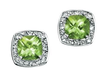 August Birthstone Peridot Earrings GE731G