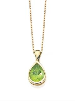 PERIDOT AND GOLD PENDANT GP460G