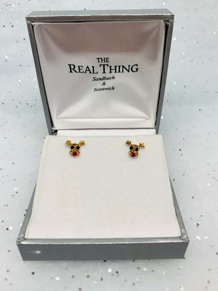 Reindeer Sparkle Stud Earrings