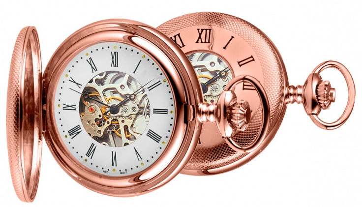 Peaky Blinder Style Pocket watch Rose gold plated