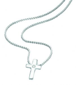 D For Diamonds Sterling Silver Cross P800