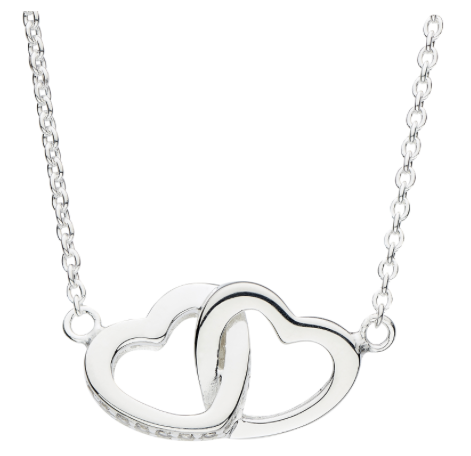 Dew Linked Hearts Necklace 9072cz