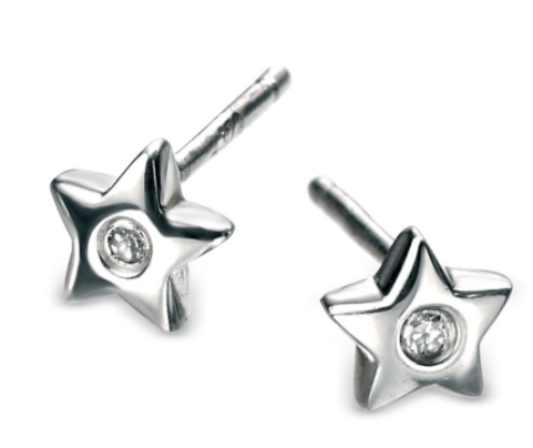 D For Diamond Star Stud Earrings e573