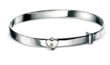 D For Diamond Heart Bangle b773