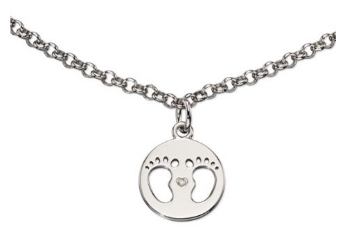 D For Diamond Baby Footprints Bracelet