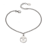 D For Diamond Baby Footprints Bracelet b4945