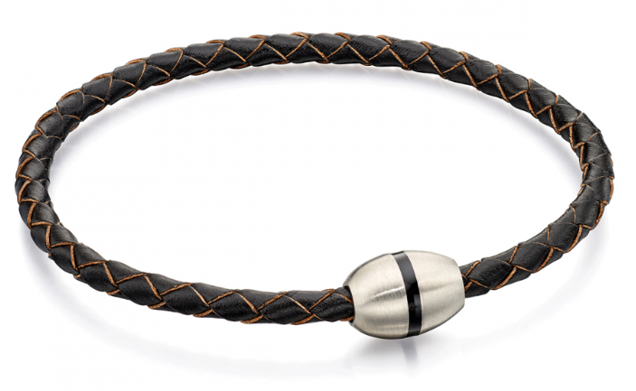 Fred Bennett Skinny Leather Magnetic Clasp Bracelet